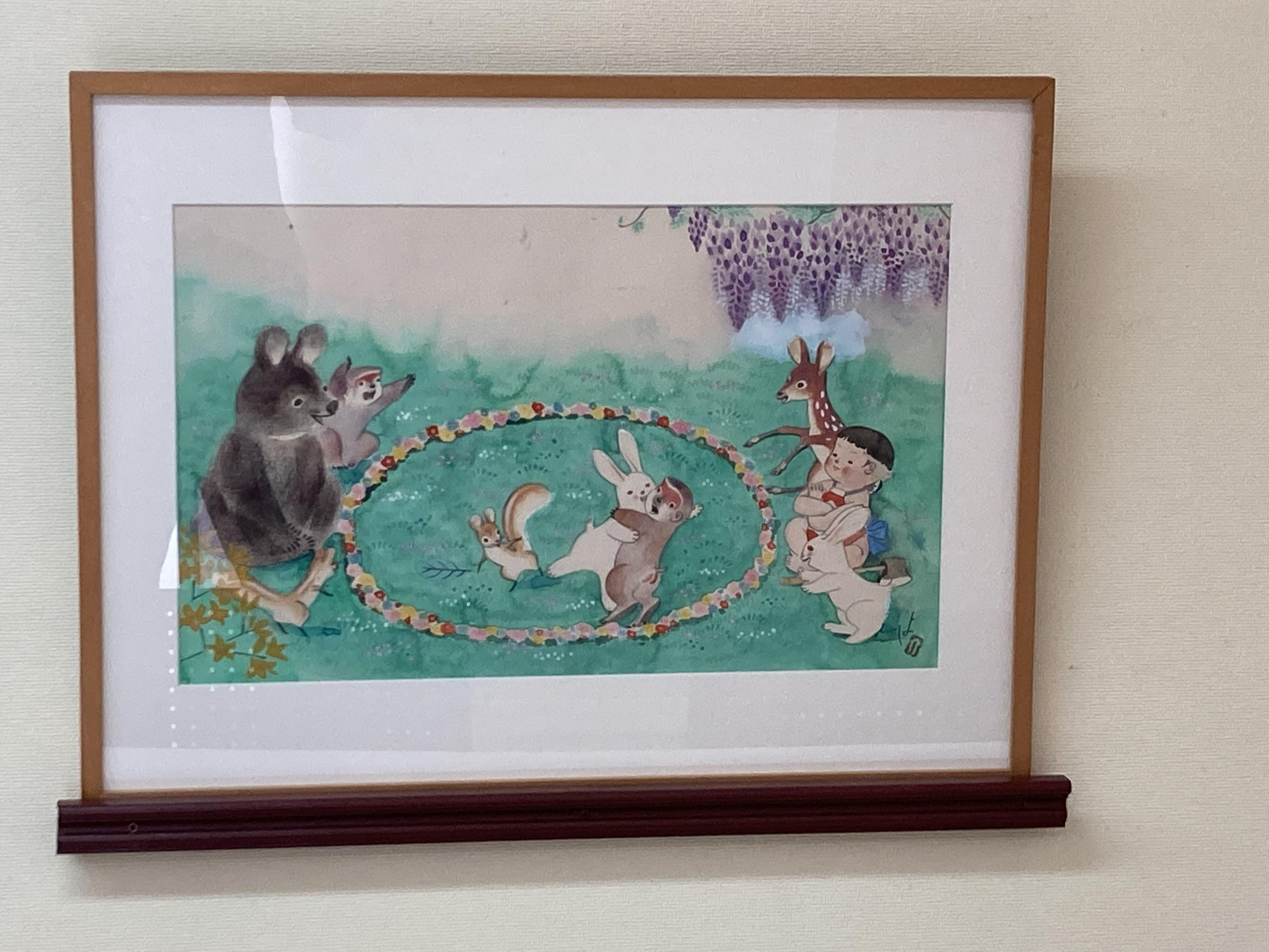 「湘南とらい」に、黒崎義介先生と利用者の作品を展示しています